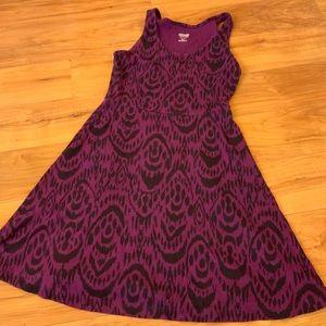 Deep Purple Printed Dress